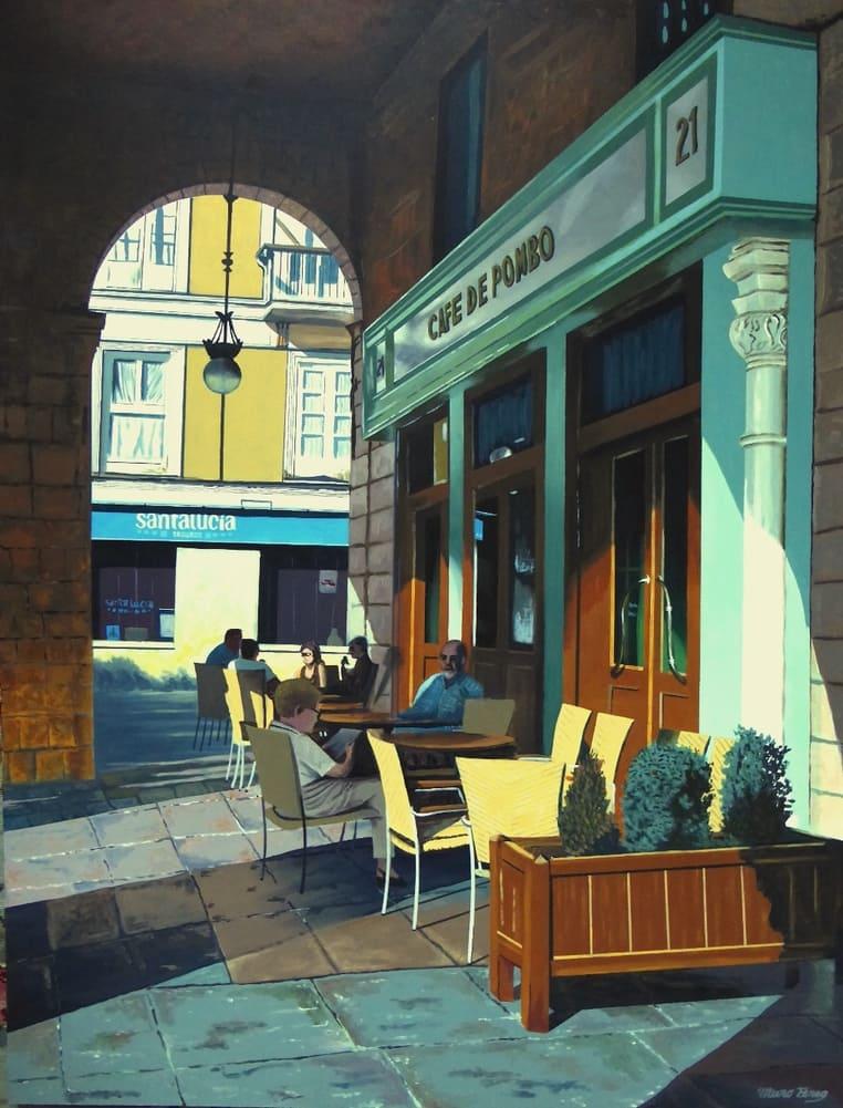 Cafe Pombo (Santander), José Ramón Muro, źródło Wikimedia Commons