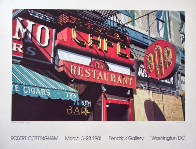 To nie zdjęcie, to nie wizualizacja restauracji, ale obraz na płótnie.