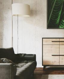 Wizualizacja pokoju z sofą