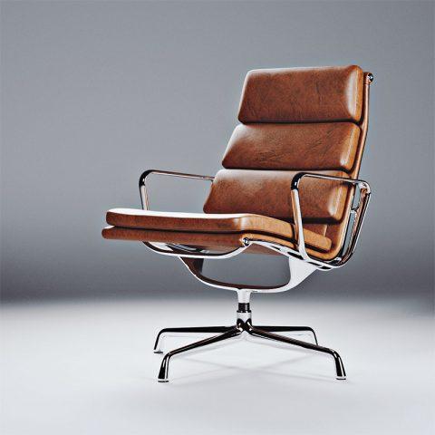 wizualizacja krzesła biurowego